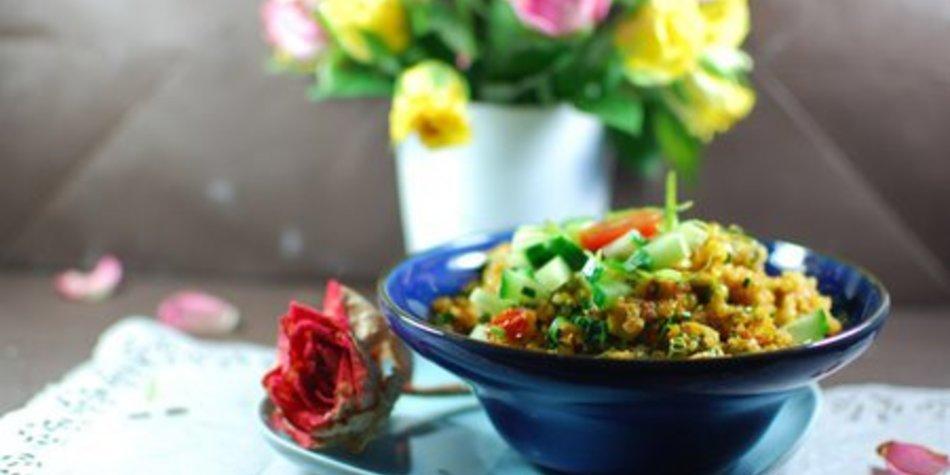 Frühlingshafter Bärlauch-Quinoa-Salat