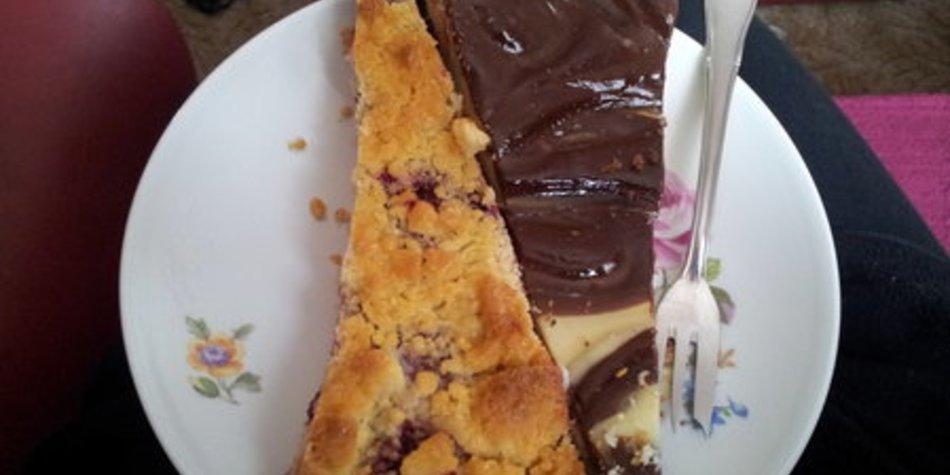 Schokoladen-Eierlikör-Cheesecake
