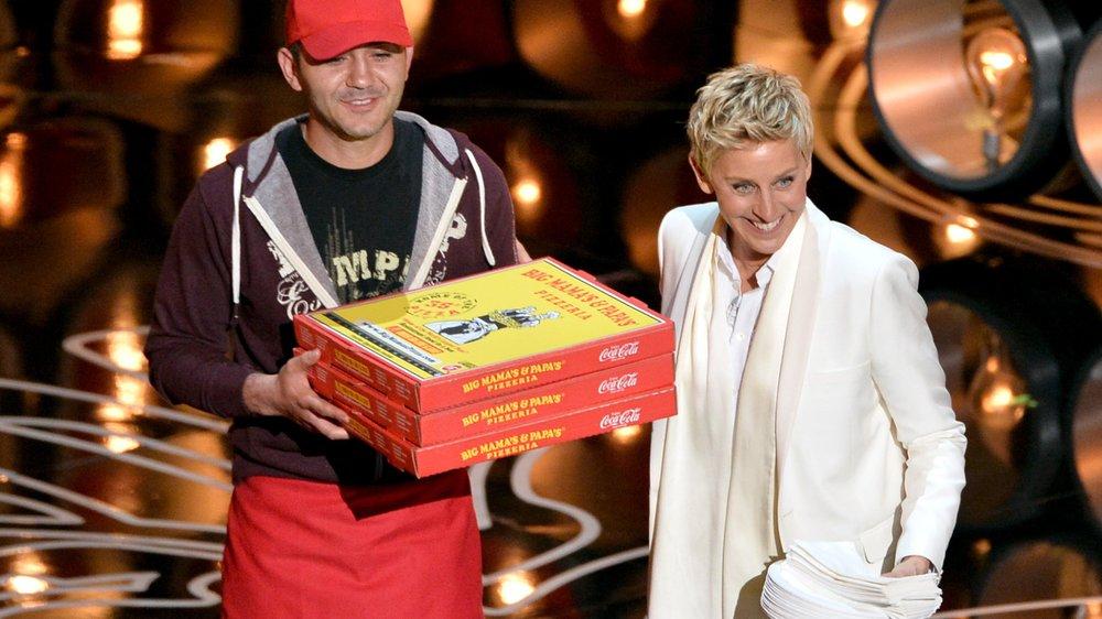 Ellen DeGeneres sammelt für den Oscar-Pizzaboten fleißig Trinkgeld