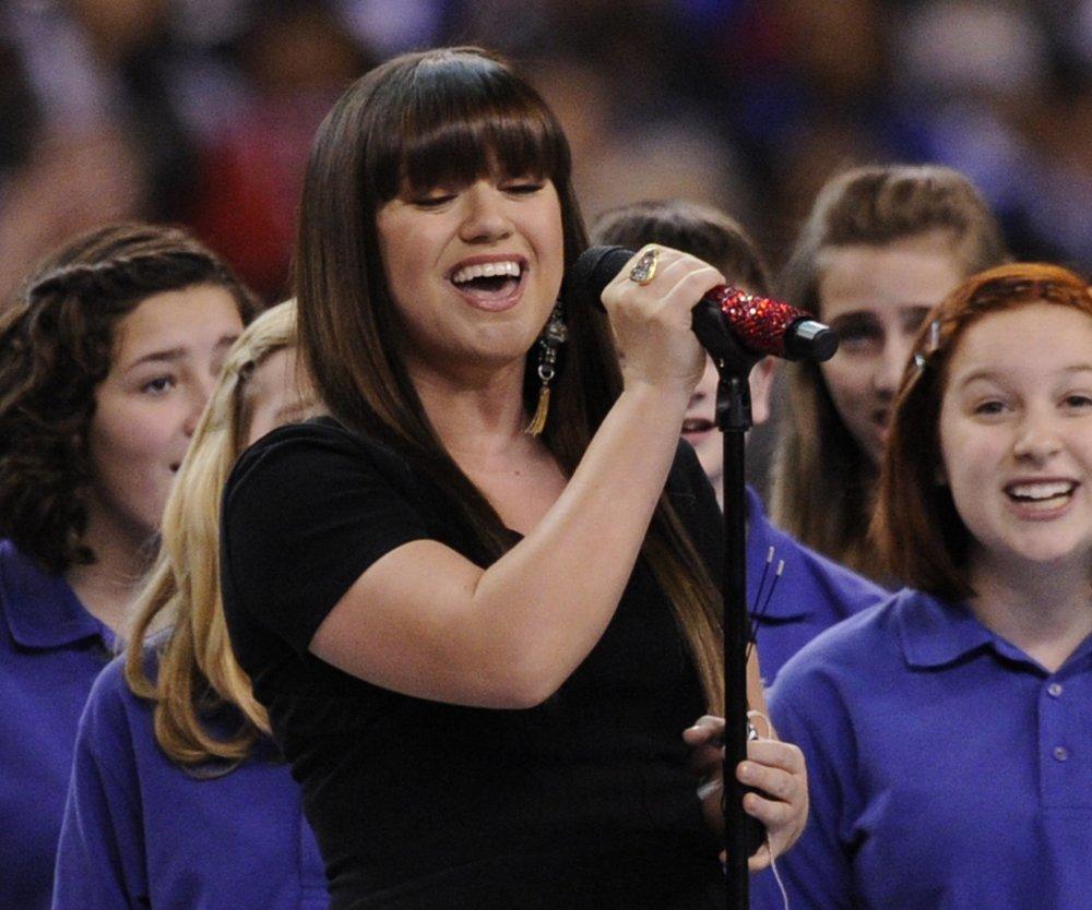 Kelly Clarkson sang Nationalhymne