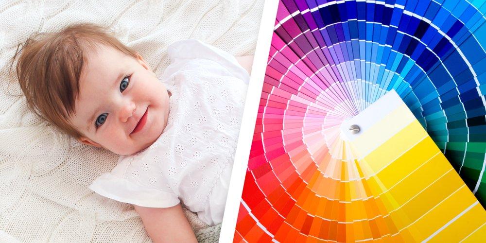 22 Babynamen, die von Farben inspiriert sind