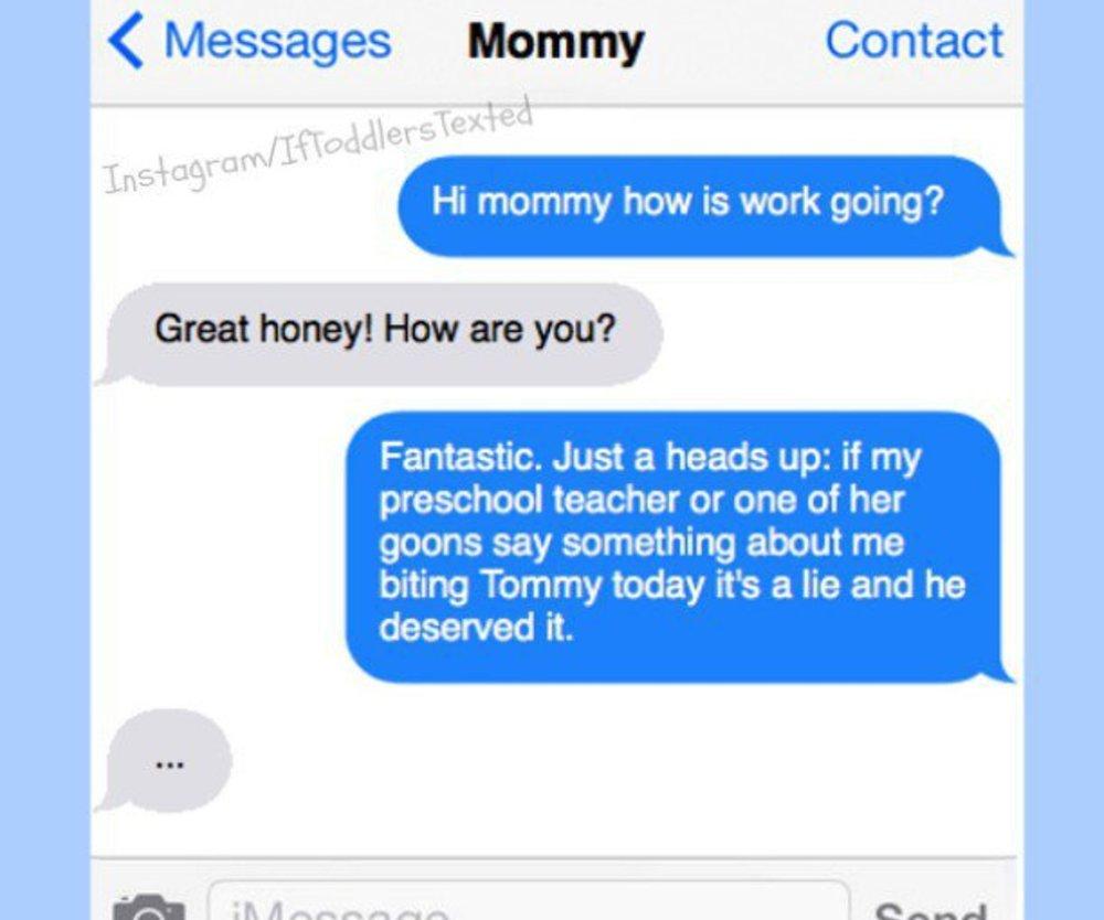 Lustiger Instagram Account über SMS-schreibende Kleinkinder