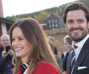 FALUN, SWEDEN - OCTOBER 05: Princess Sofia of Sweden and Prince Carl Philip of Sweden visit the Falun Mine world heritage site during the first day of their trip to Dalarna on October 5, 2015 in Falun, Sweden. (Photo by Ragnar Singsaas/Getty Images)