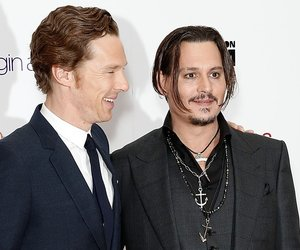 """LONDON, ENGLAND - OCTOBER 11: Benedict Cumberbatch and Johnny Depp attend the """"Black Mass"""" Virgin Atlantic Gala screening during the BFI London Film Festival, at Odeon Leicester Square on October 11, 2015 in London, England. (Photo by John Phillips/Getty Images for BFI)"""