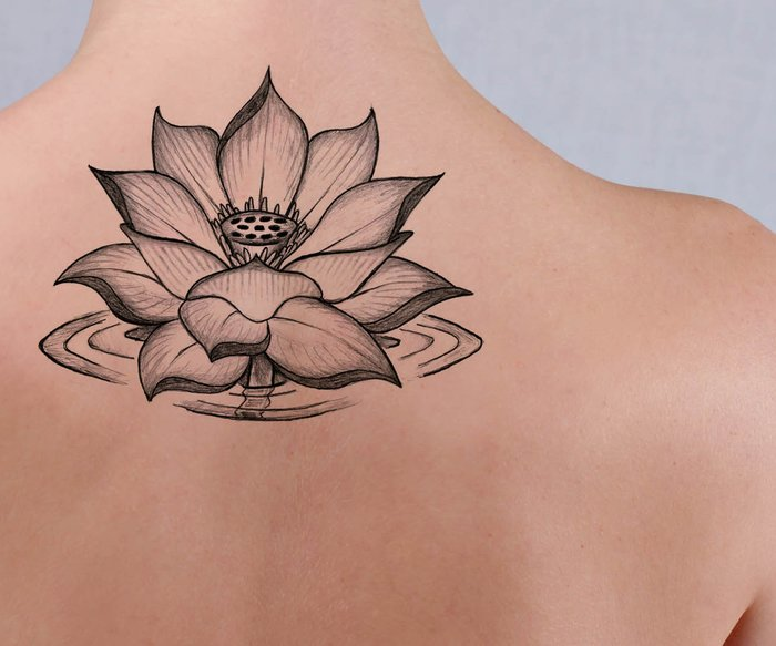 Lotusblumen-Tattoo