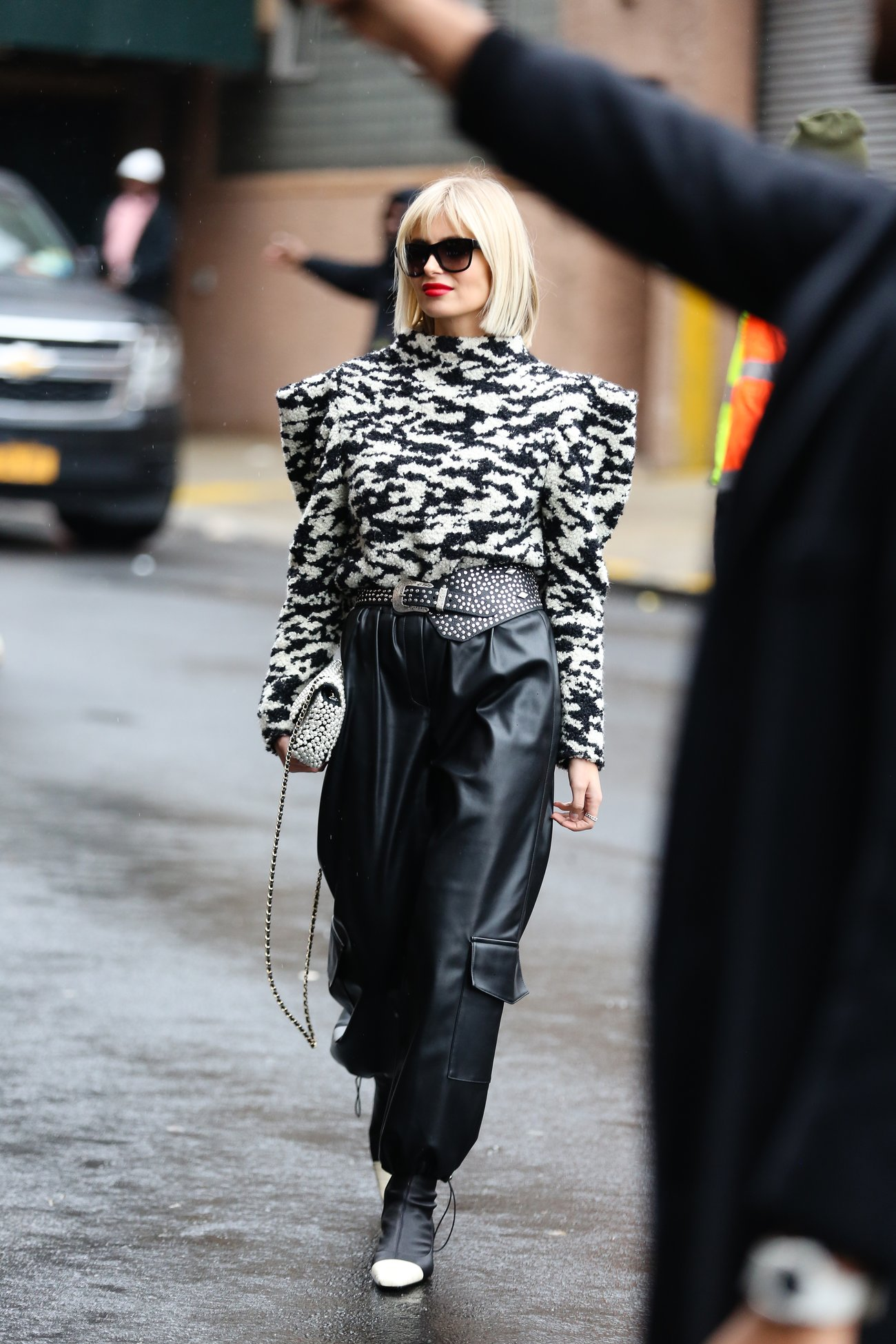 Cargohosen Trend Xenia Adonts auf der New York Fashion Week