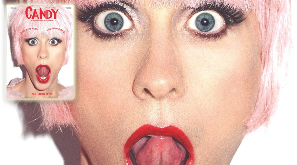 Jared Leto auf dem Cover des Candy-Magazins
