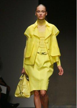 Allover Look in Gelb von Christina Ortiz für Ferragamo