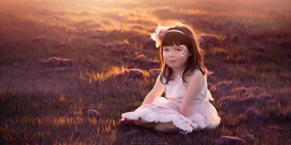 Violet bei einem Sonnenuntergang