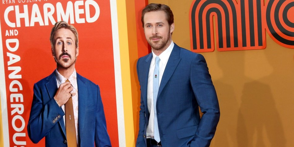 HOLLYWOOD, CA - MAY 10: Actor Ryan Gosling attends the premiere of Warner Bros. Pictures' 'The Nice Guys' at TCL Chinese Theatre on May 10, 2016 in Hollywood, California. (Photo by Frederick M. Brown/Getty Images)