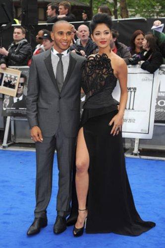 Nicole Scherzinger und Lewis Hamilton
