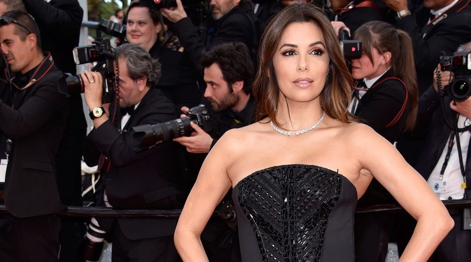 "CANNES, FRANCE - MAY 12: US actress Eva Longoria attends the ""Money Monster"" premiere during the 69th annual Cannes Film Festival at the Palais des Festivals on May 12, 2016 in Cannes, France. (Photo by Clemens Bilan/Getty Images)"