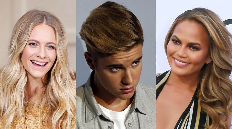 Poppy Delevingne, Justin Bieber, Chrissy Teigen