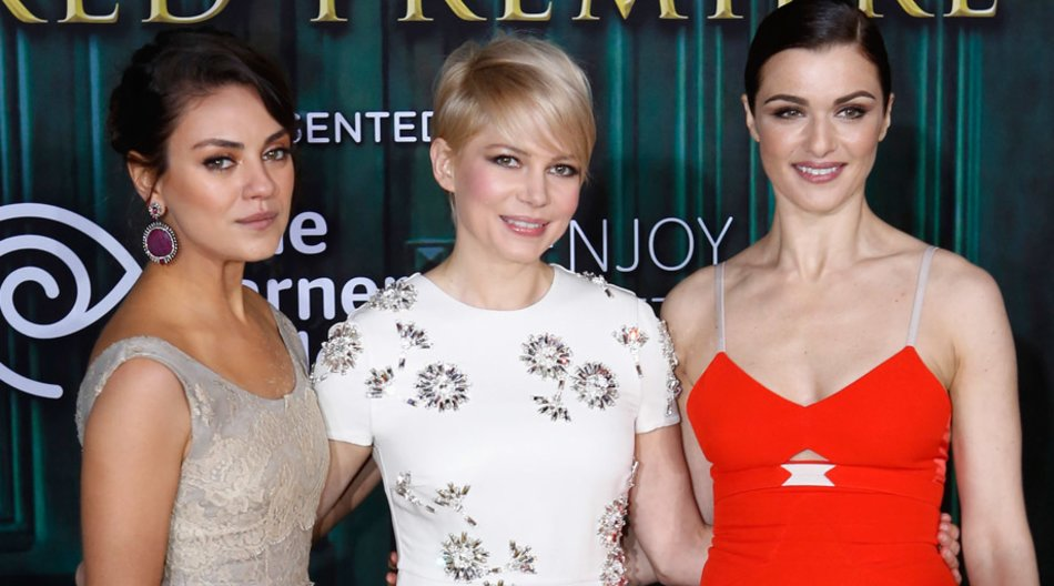 Mila Kunis, Michelle Williams, Rachel Weisz