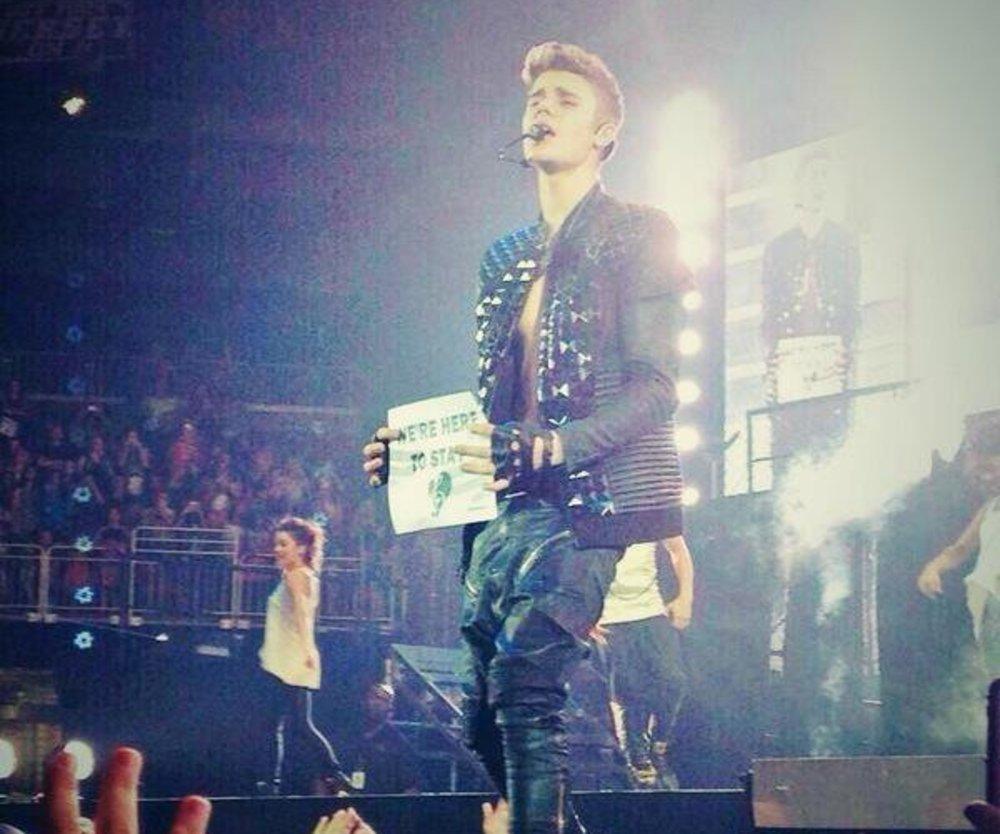 Justin Bieber bekommt eine diamantene Schallplatte
