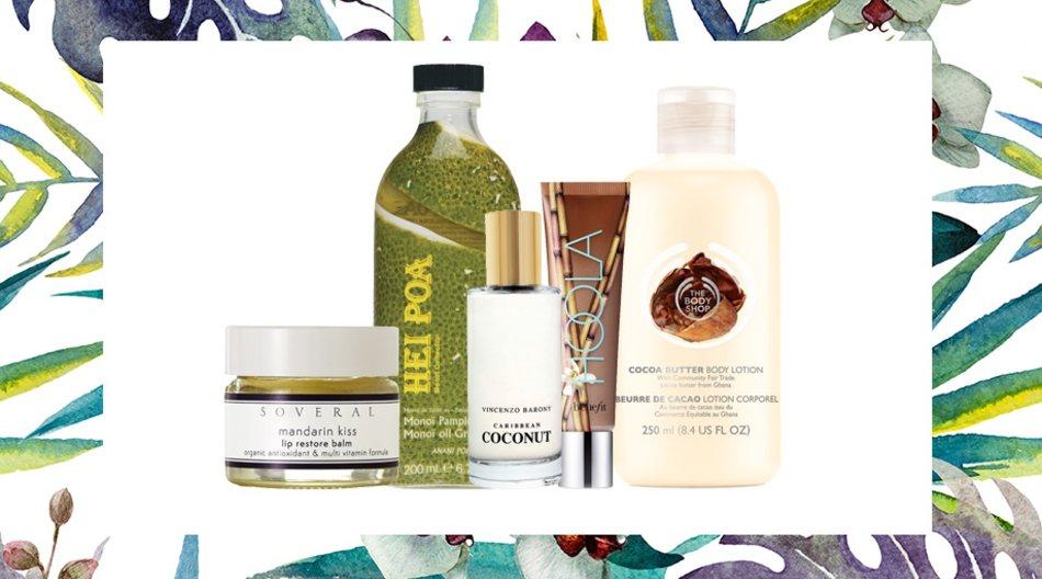 Tropische Beauty-Produkte