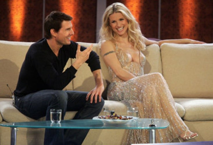 Moderatorin Michelle Hunziker und Tom Cruise bei Wetten, Dass...?