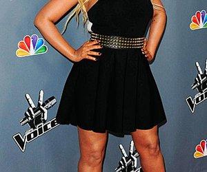 """Christina Aguilera im kleinen Schwarzen bei der Vorstellung der neuen US-""""The Voice""""-Staffel."""