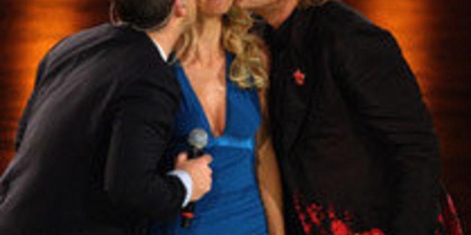 Wetten, dass...?: Küsse von Robbie für Michelle