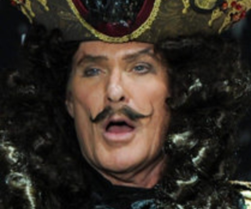 David Hasselhoff als fieser Captain Hook