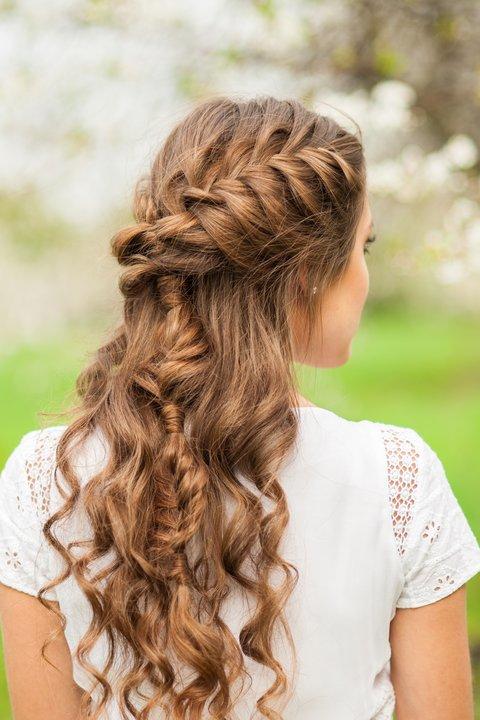 Lange frisuren dunkelbraune haare Lange Haare