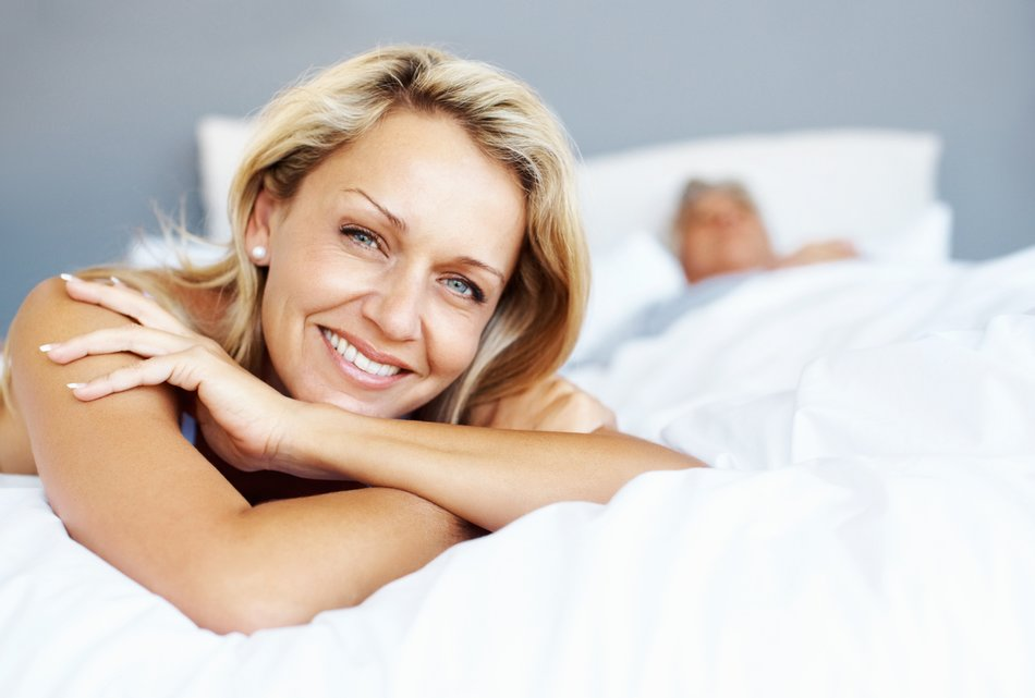 Schlafprobleme ältere Frau