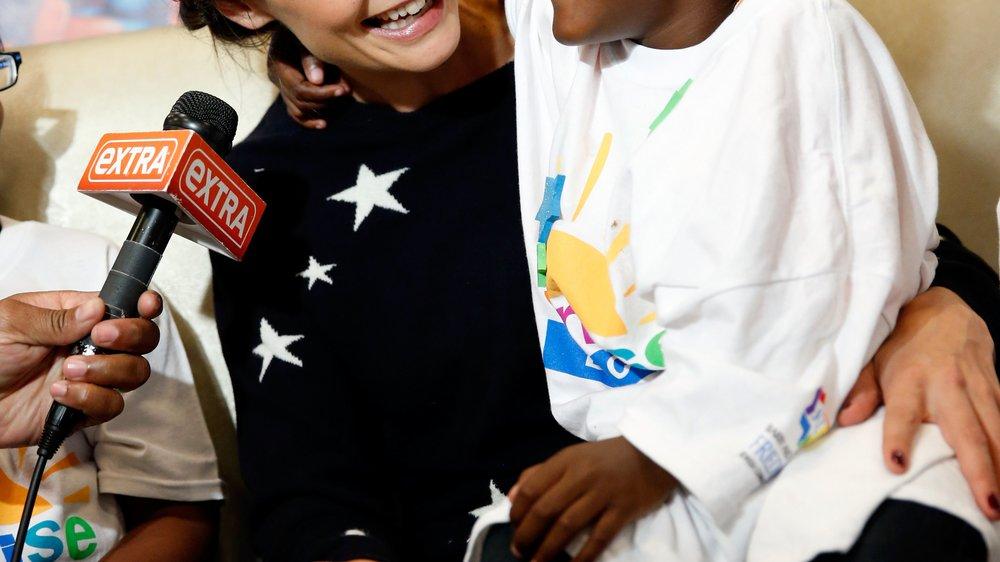 Katie Holmes macht sich für krebskranke Kinder stark