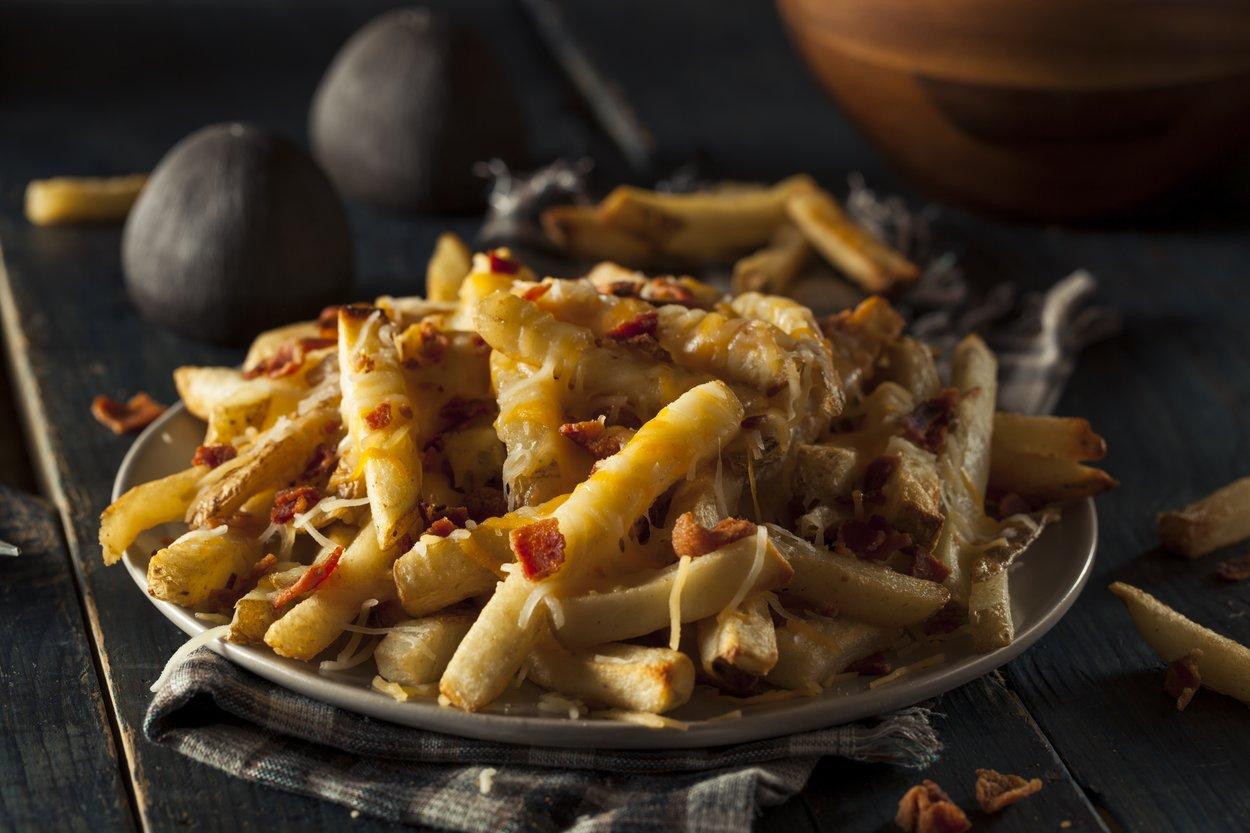 knusprige Pommes aus dem Ofen mit Käse