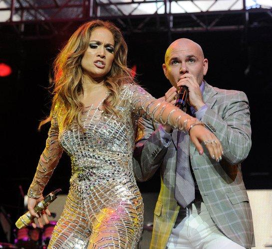 Pitbull auf der Bühne