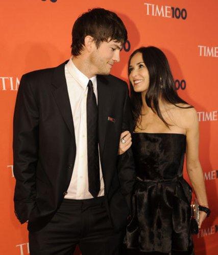 Demi Moore und Ashton Kutcher auf einem Time's-Event
