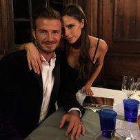 David Beckham und Victoria in Schottland