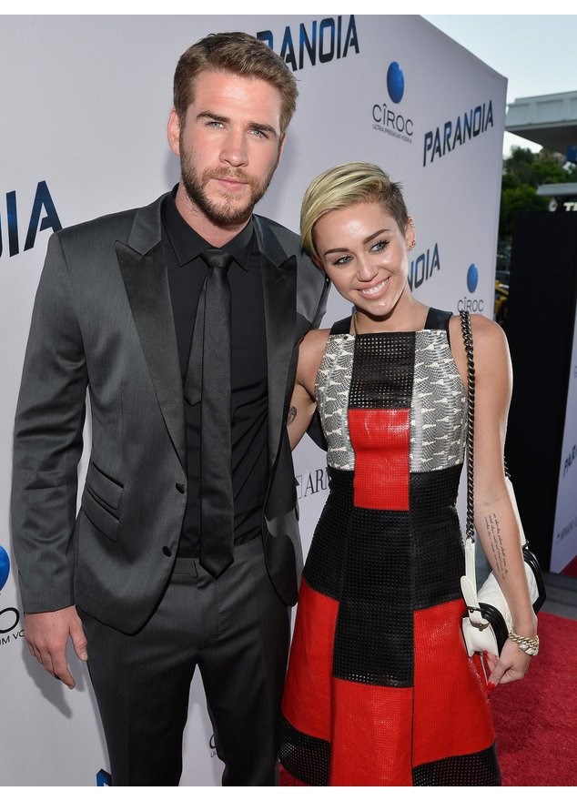 Liam Hemsworth und Miley Cyrus auf dem roten Teppich