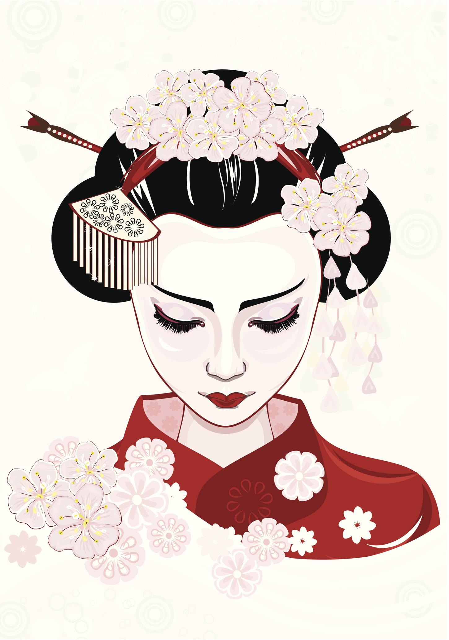 geisha tattoo bedeutung und motivideen. Black Bedroom Furniture Sets. Home Design Ideas