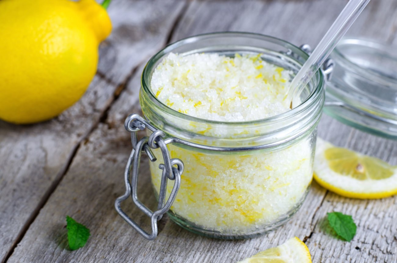 Zitronen-Zucker-Peeling