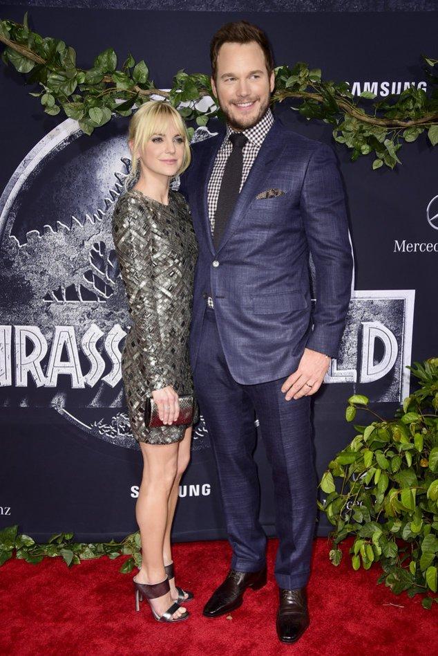 Chris Pratt mit seiner Ehefrau Anna Faris