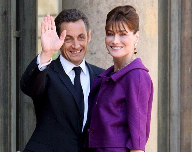 Nicolas Sarkozy und seine Gattin Carla im Jahr 2008
