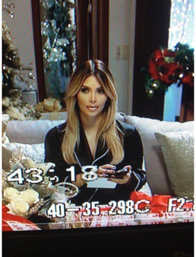 Kim Kardashian bei Dreharbeiten zu einem neuen Projekt