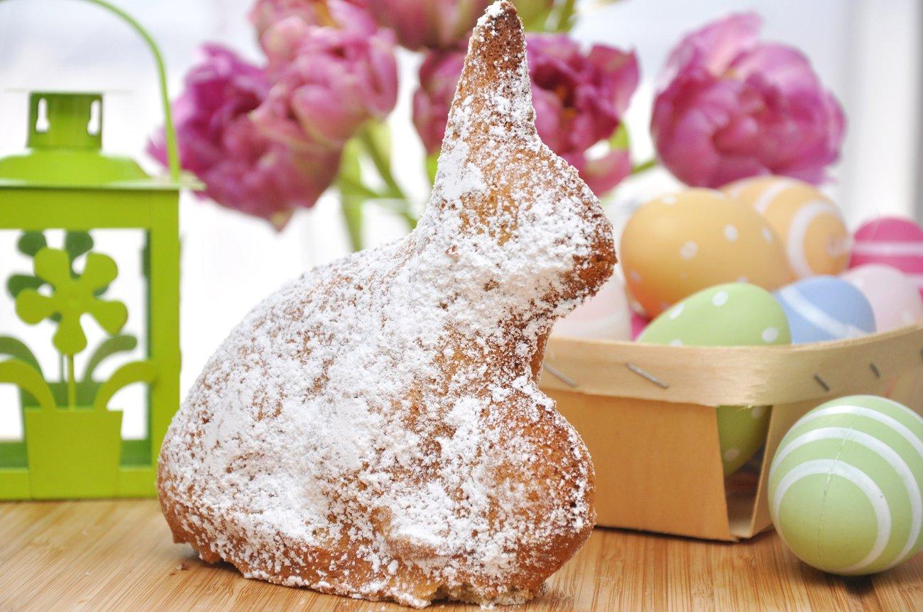 Ostern Hasenkuchen Rührteig