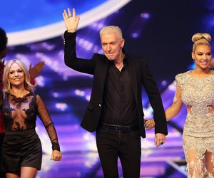 COLOGNE, GERMANY - APRIL 29: Michelle, H.P. Baxxter and Shirin David during the fourth event show and semi finals of the tv competition 'Deutschland sucht den Superstar' (DSDS) at Coloneum on April 29, 2017 in Cologne, Germany. The finals will take place on May 6, 2017. (Photo by Florian Ebener/Getty Images)