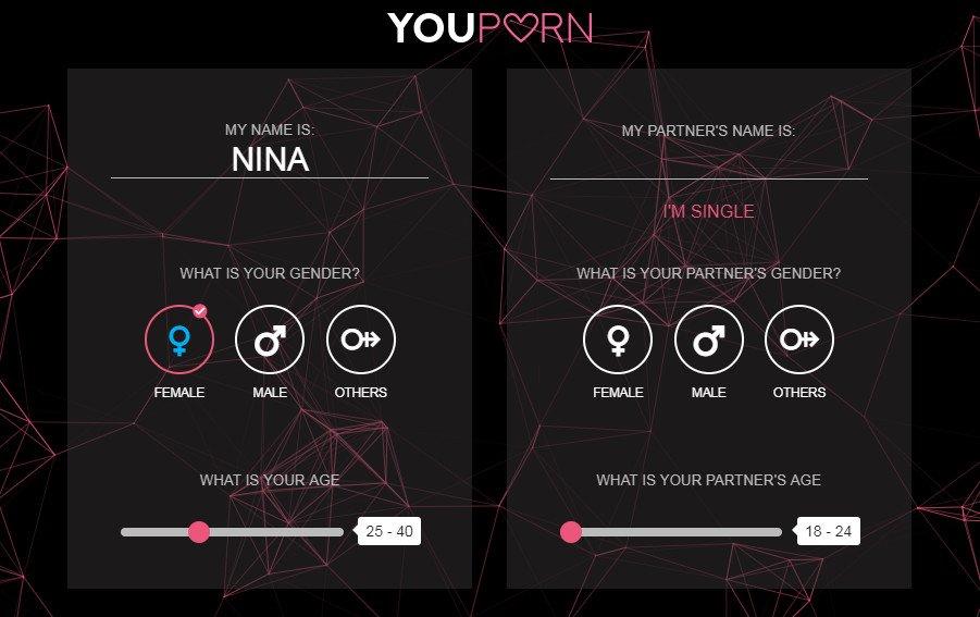 Bevor ihr nach euren sexuellen Vorlieben befragt werdet, müsst ihr eure Namen, Geschlecht und Alter angeben.