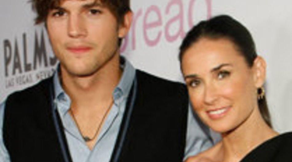 Demi Moore und Ashton Kutcher: Notlandung
