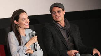 NEW YORK, NY - NOVEMBER 03: Angelina Jolie (L) and Brad Pitt attend an official Academy Screening of BY THE SEA hosted by The Academy Of Motion Picture Arts And Sciences on November 3, 2015 in New York City. (Photo by Robin Marchant/Getty Images for Academy of Motion Picture Arts and Sciences)