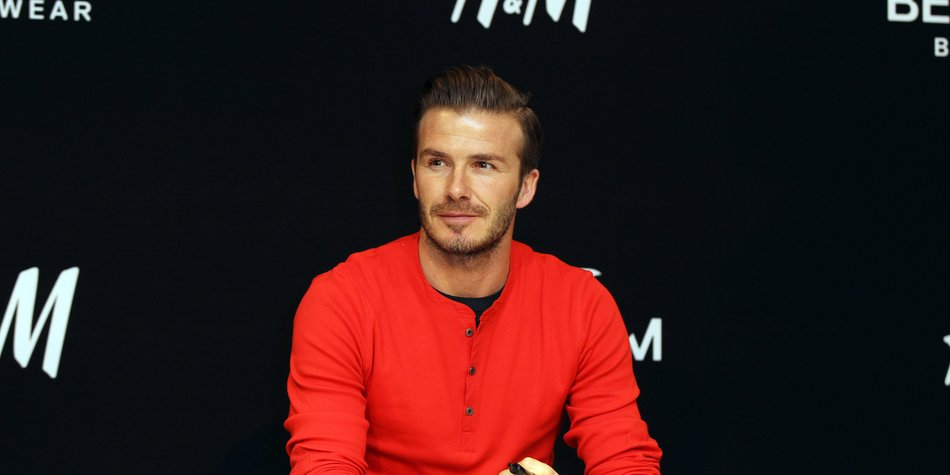 David Beckham macht sich nackig