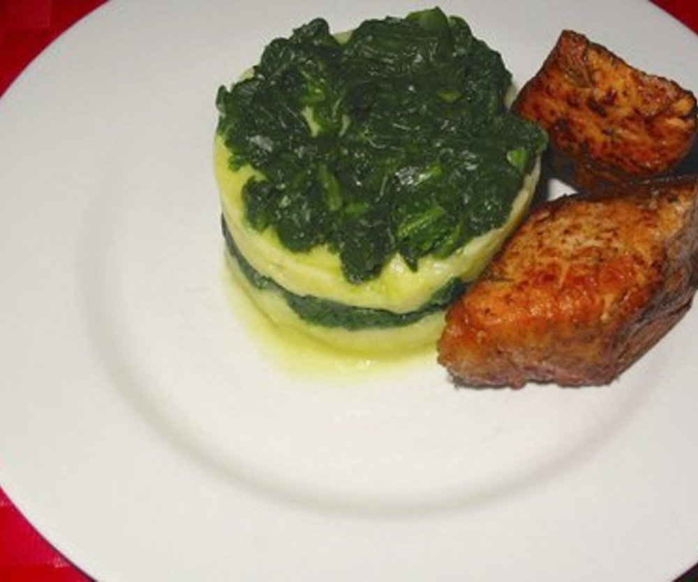 Lachs Spinat