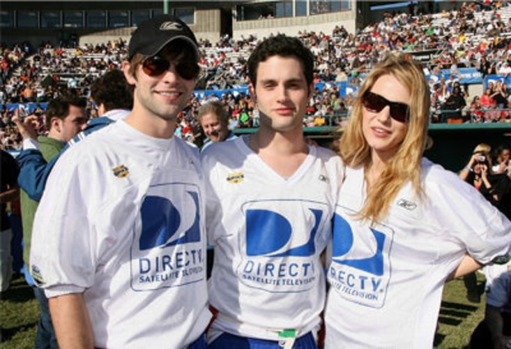 Chace Crawford, Penn Badgley und Blake Lively