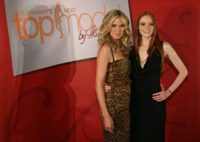 Heidi, Jenny Hof, Christina und Janina beim Finale von Germanys next Topmodel 2008