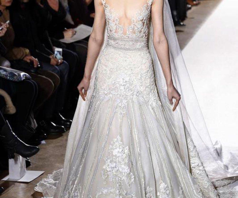 Haute Couture von Zuhair Murad mit einem weißen Brautkleid