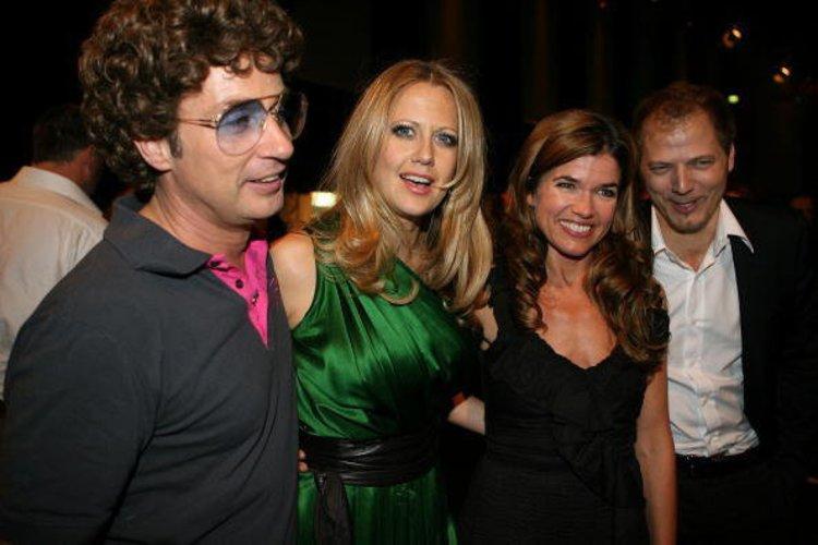 Barbara Schöneberger mit Atze Schröderm und Mario Barth
