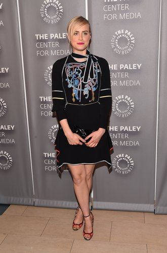 "BEVERLY HILLS, CA - MAY 26: Actress Taylor Schilling attends PaleyLive LA: An Evening With ""Orange Is The New Black"" at The Paley Center for Media on May 26, 2016 in Beverly Hills, California. (Photo by Alberto E. Rodriguez/Getty Images)"
