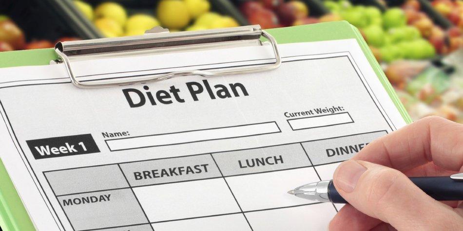 Mit einem Ernährungsplan einkaufen gehen